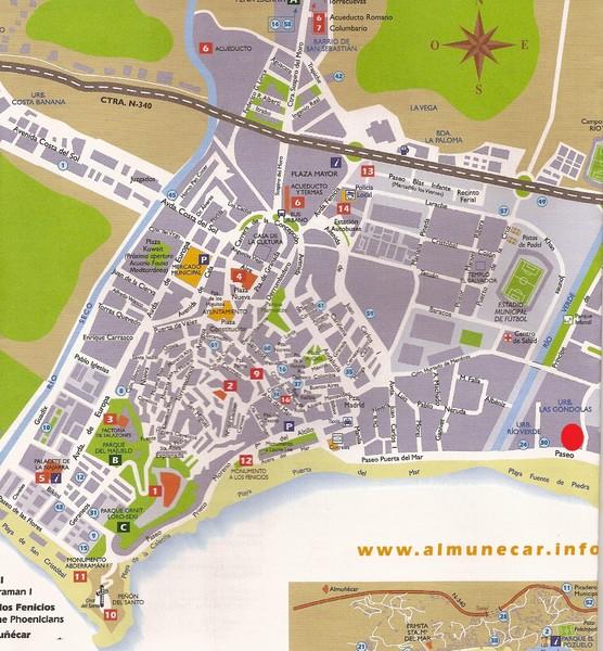 Nerja Tourist Map Nerja Spain mappery