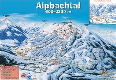 Alpbach Ski Trail Map