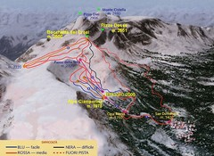 Alpe Ciamporino Ski Trail Map