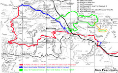 Alpine Dam Seven Sisters Road Bike Route Map...