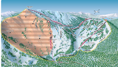 Alpine Meadows Ski Area Backside Ski Trail Map