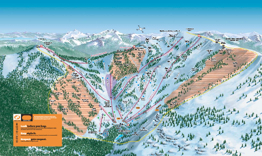 Alpine Meadows Ski Trail Map (Front)
