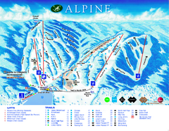 Alpine Ski Club Ski Trail Map