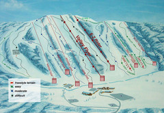 Alpine Valley Resort Ski Trail Map