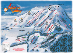 Alpine Valley Ski Trail Map