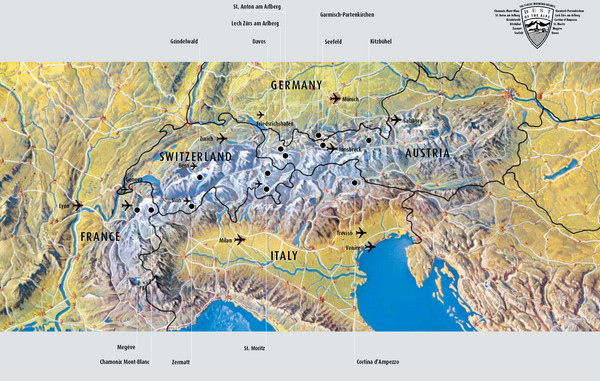 Location Of Alps On Map