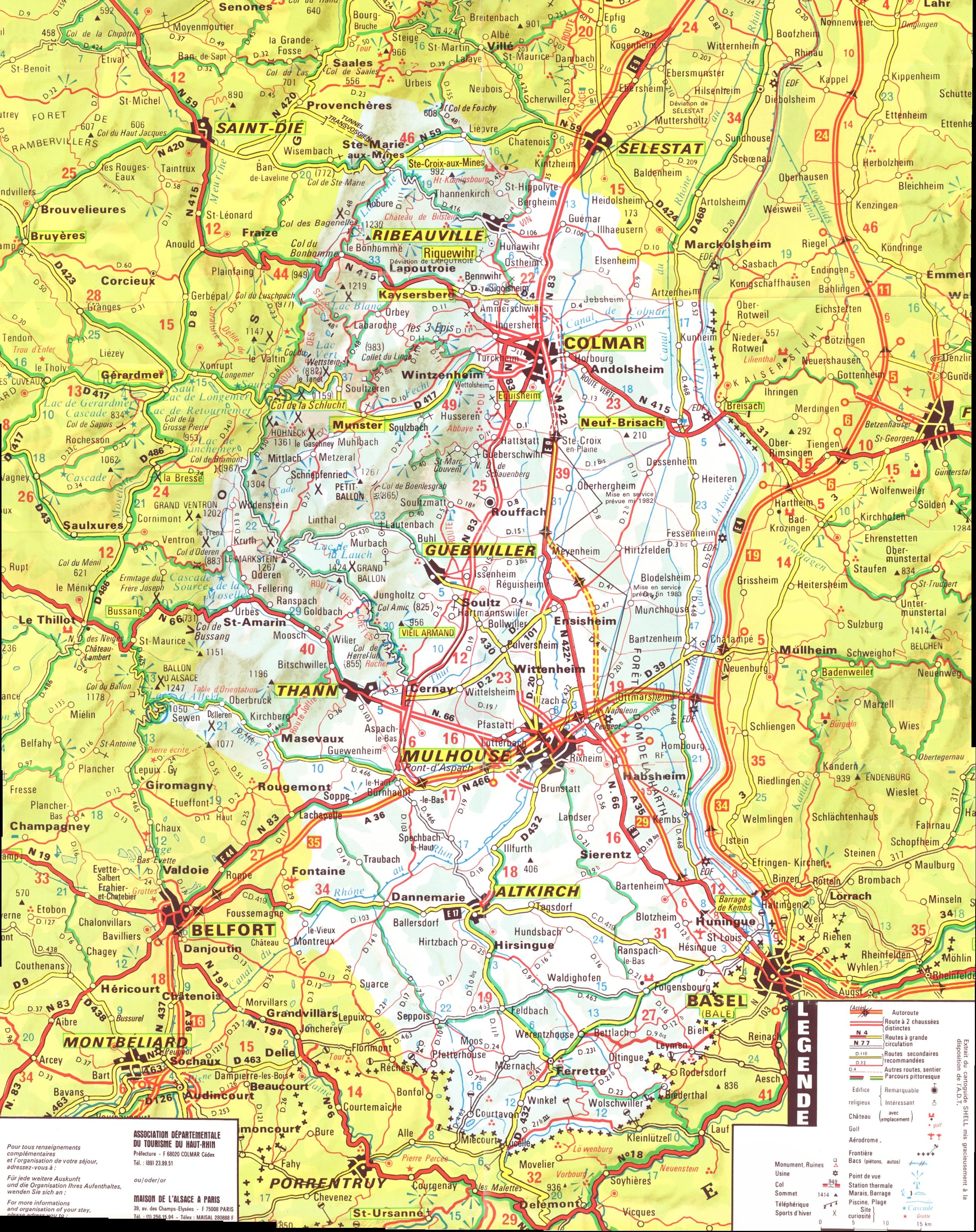 carte alsace haut rhin Alsace   Haut Rhin Map   alsace fr • mappery