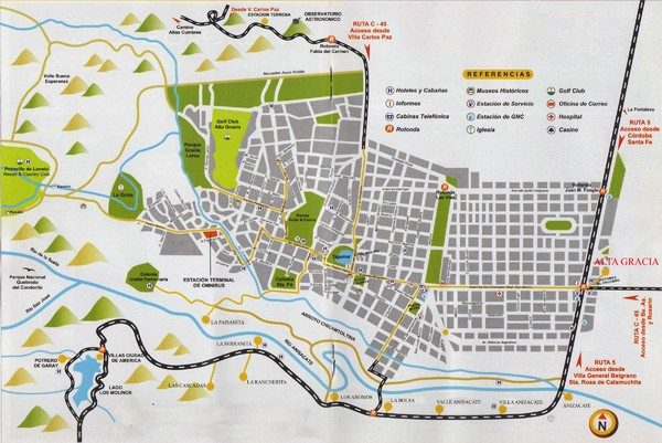 Alta Gracia Tourist Map