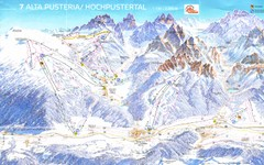 Alta Pusteria Ski Trail Map