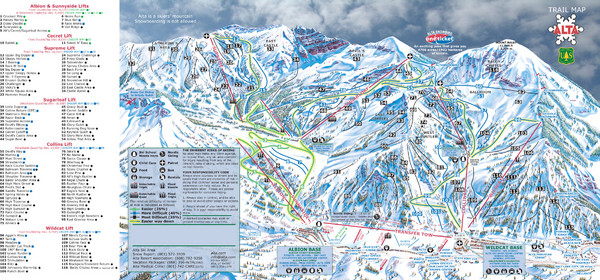 Alta Ski Trail Map