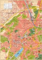 Altenburg Tourist Map
