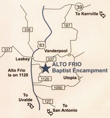 Alto Frio, Texas Tourist Map