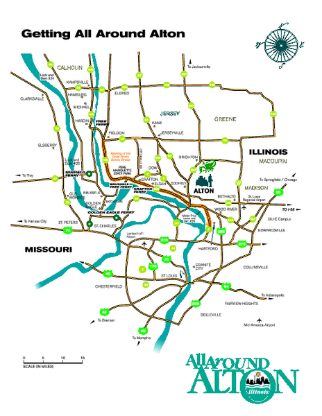 Alton Illinois and surrounding areas Map   Alton IL • mappery