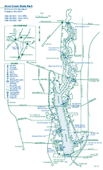 Alum Creek State Park map