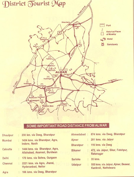 Alwar India Tourist Map