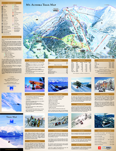 Alyeska Ski Trail Map