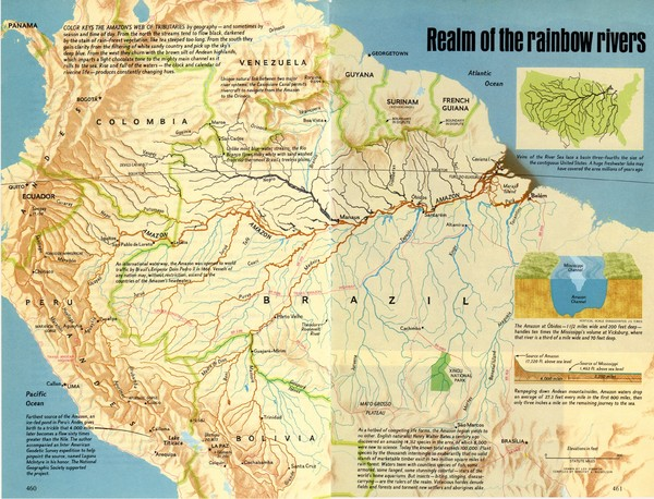 Brazil Map of Amazon Amazon River Basin Map