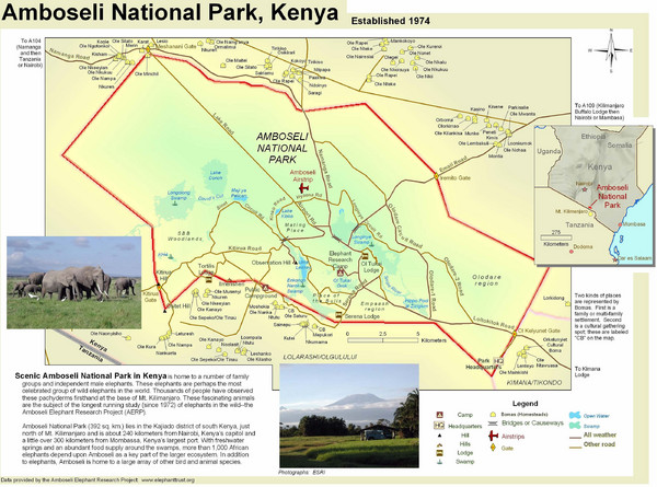 Amboseli National Amboseli-national-park-map