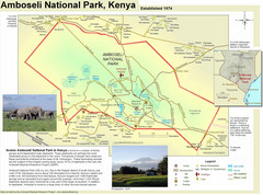 Amboseli National Park Map