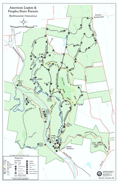 American Legion State Forest trail map