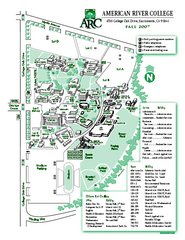 American River College Campus Map