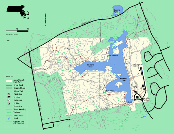 Ames Nowell State Park Map Ma • Mappery