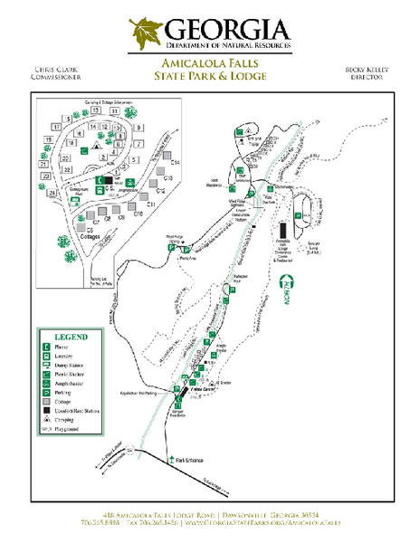 Map of georgia state parks bnhspine amicalola falls state park map 418 amicalola falls state publicscrutiny Gallery