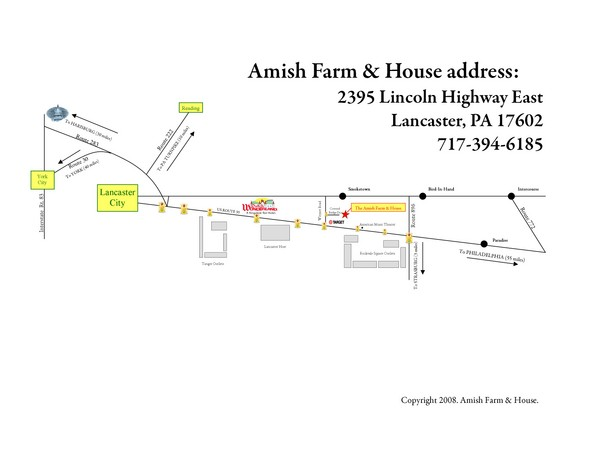 Amish Farm and House Route Map