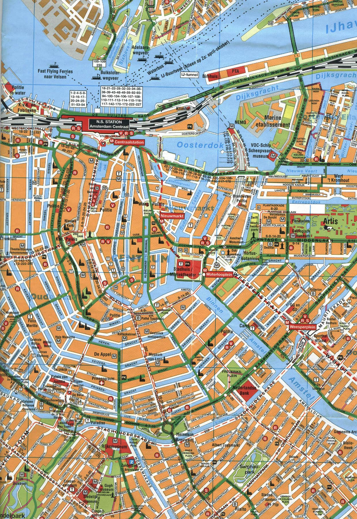 Amsterdam Center Map Amsterdam Netherlands mappery – Amsterdam Tourist Map Pdf