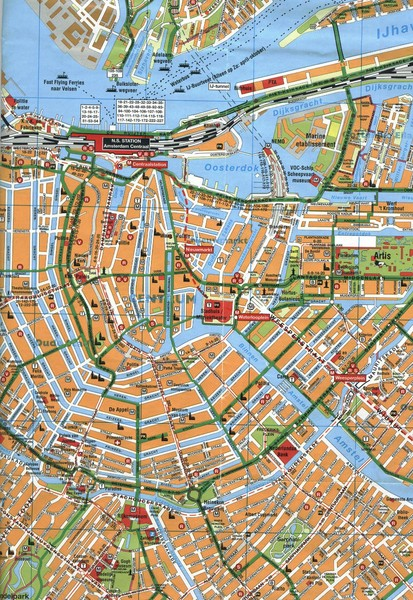 Amsterdam Center Map