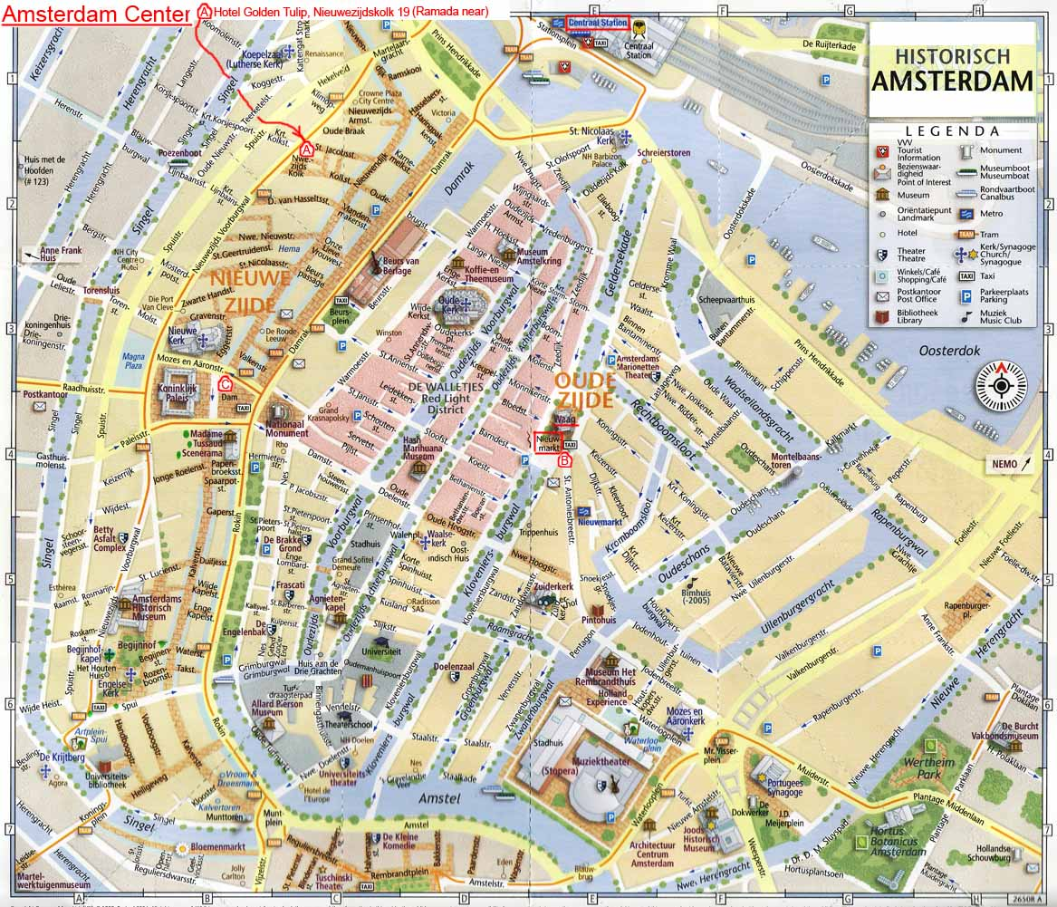 Carte d 39 amsterdam plan touristique amsterdam for Alloggi amsterdam centro low cost