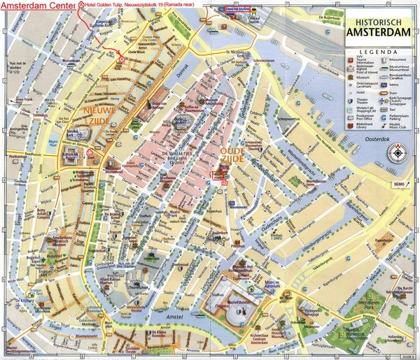 Netherlands maps mappery – Amsterdam Tourist Attractions Map