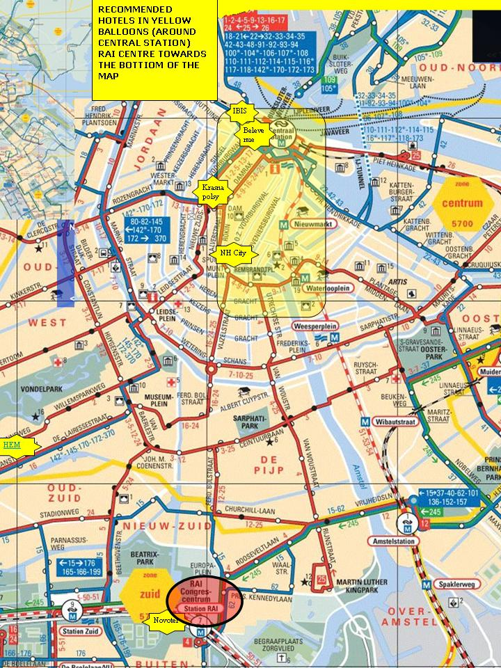 Amsterdam Hotel Map \u2022 Mappery: Amsterdam Hotels Map At Slyspyder.com