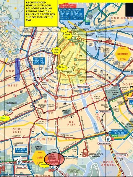 amsterdam hotel map amsterdam mappery