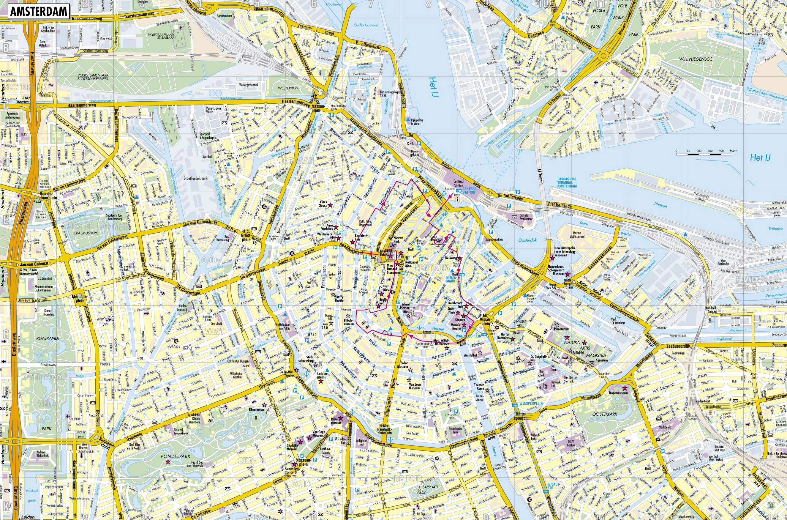 Download Free Maps Europe Backpacking – Amsterdam Travel Map