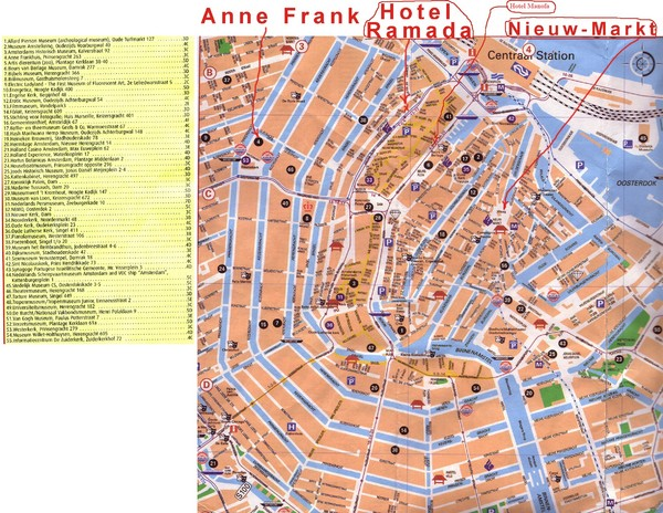 Netherlands maps mappery – Tourist Attractions Map In Amsterdam