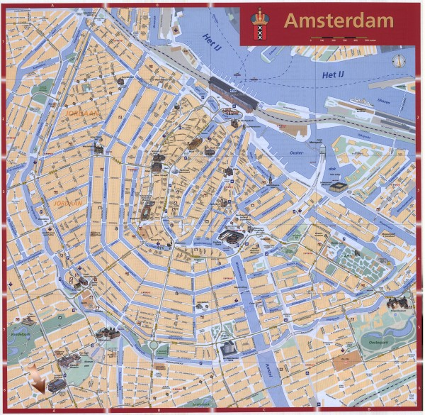 Amsterdam Netherlands  city images : Amsterdam Tourist map Amsterdam Netherlands • mappery