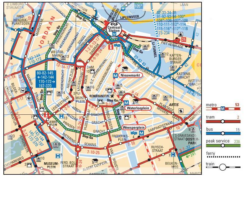 Subway Map Of Amsterdam.Amsterdam Transit Map Amsterdam Mappery