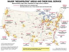 Amtrak Major Railway Map