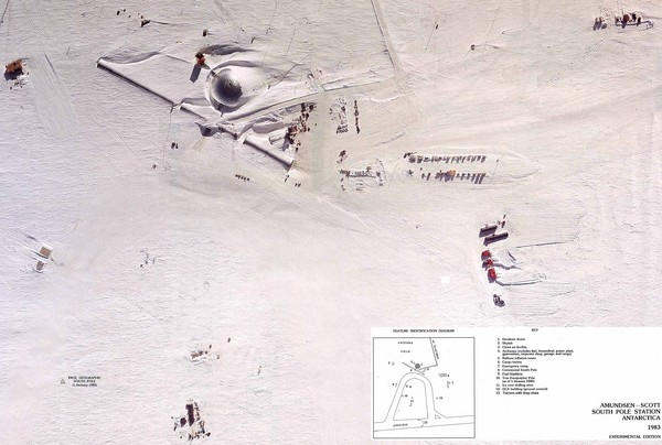 Amundsen Scott South Pole Station Aerial Map