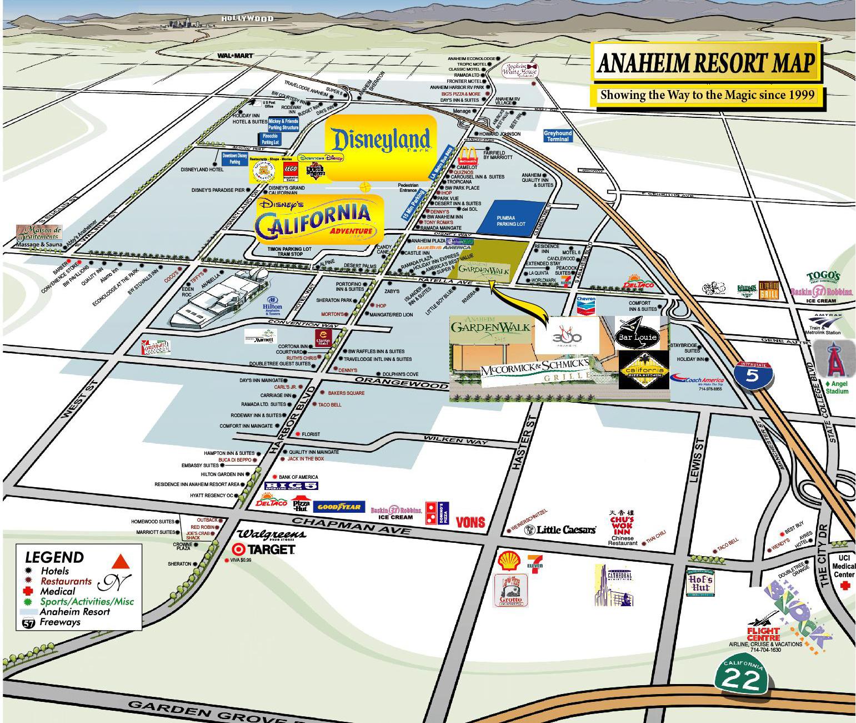 Anaheim Resort Map Anaheim California Usa Mappery