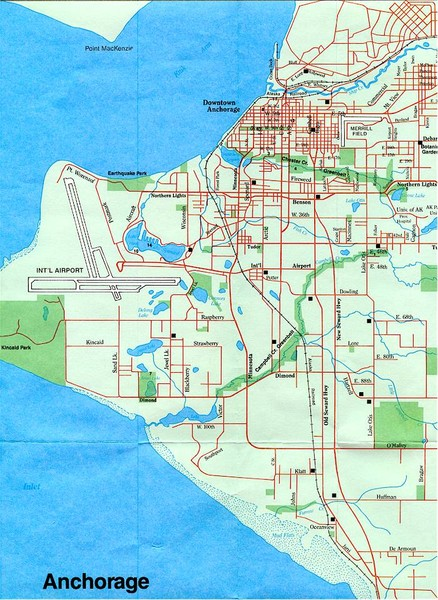Anchorage Alaska Map - Anchorage Alaska • mappery