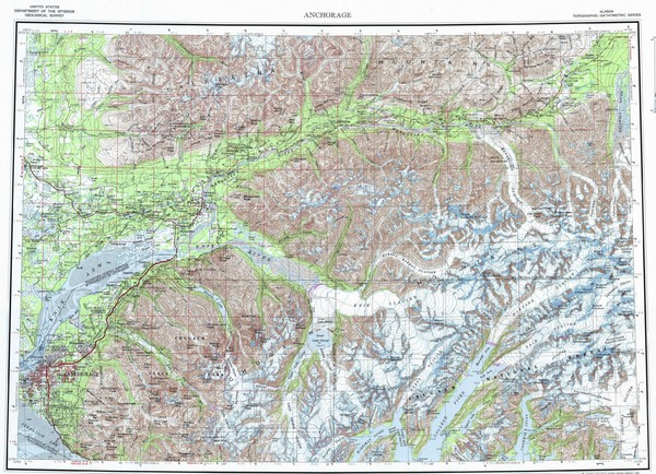 Anchorage Chugach State Park Topo Map