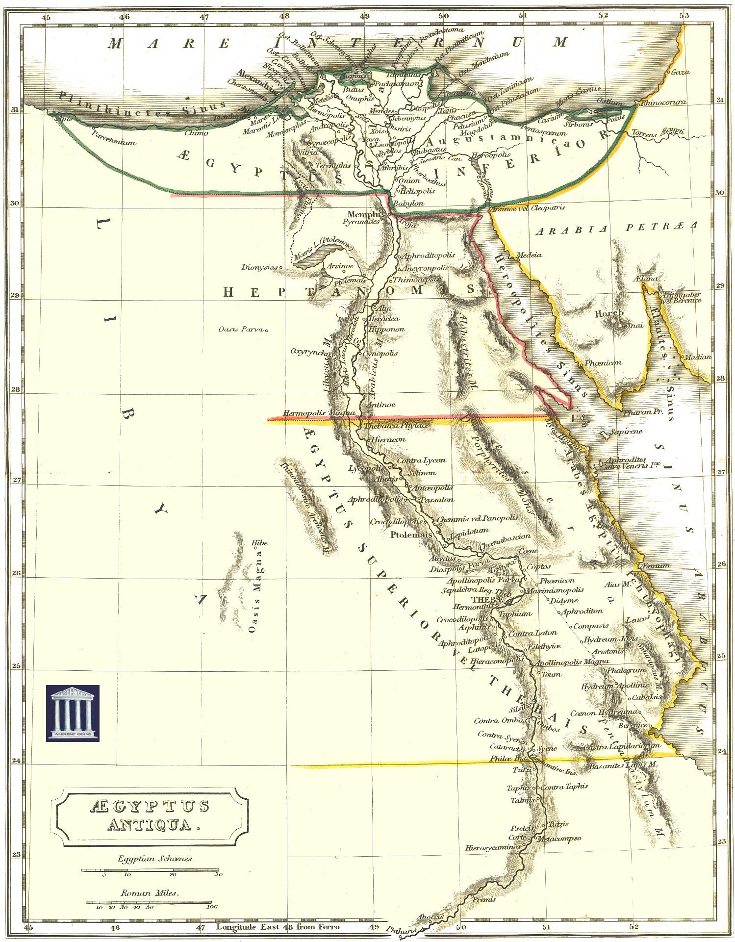 Ancient Egypt Map Egypt Mappery - Egypt physical map