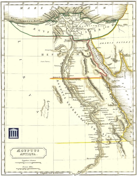 Ancient Egypt Map Egypt Mappery - Map of egypt elevation