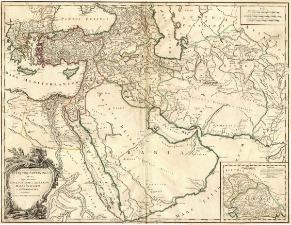 Ancient Empire of Alexander Map