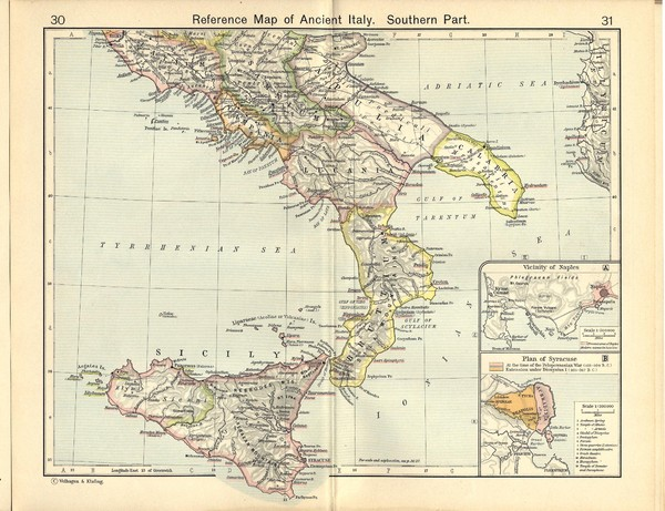 Ancient Italy, Southern Part Map