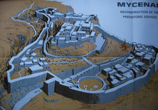 Ancient Mycenae Map Mycenae Greece Mappery