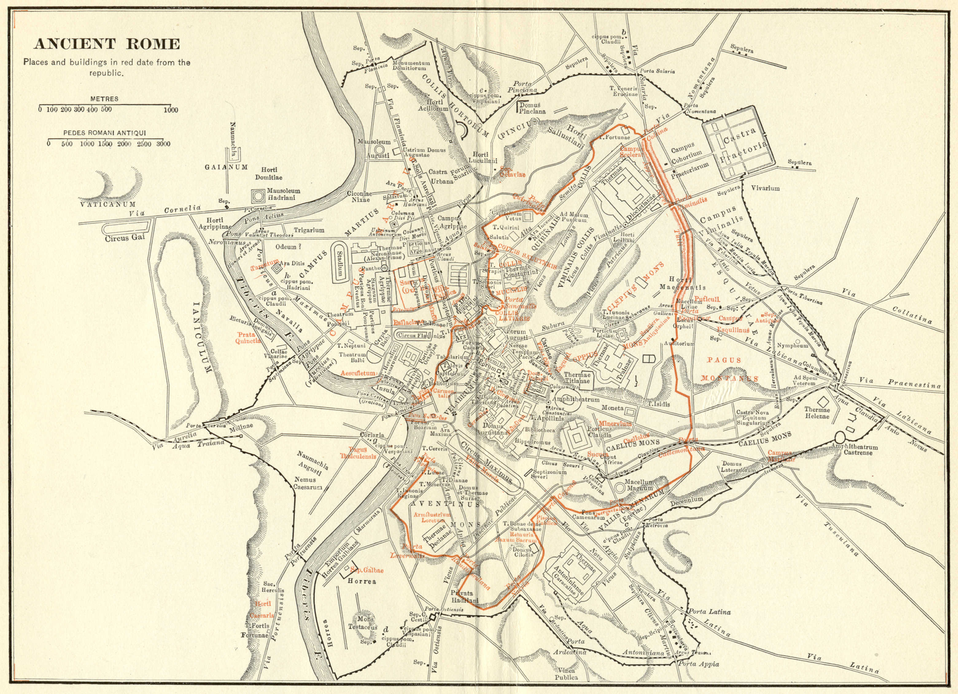 Ancient Rome Map Rome Italy mappery