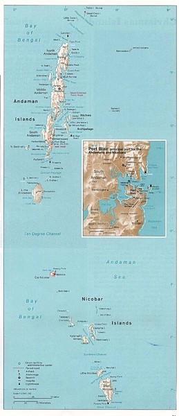 Andaman and Nicobar islands of India Map